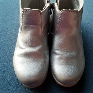 Oshkosh B'Gosh Silver Ankle Boots